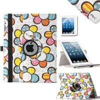Pandamimi ULAK(TM) Stand Case for Apple New iPad 4 & 3 (3rd and 4th Generation with Retina Display) / iPad 2 / 1x Screen protector (Sun flower)