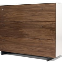 Spot On Square Roh Dresser, Walnut/White