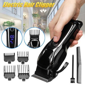 Turbo Electric Hair Clipper Professional Trimmer for Men cord/cordless Kit