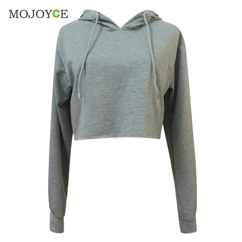 45ea29a3857f12 Fashion Short Hoodie Sweatshirt Jumper Long Sleeve Crop Top Pullover Tops  Hoodies Wome