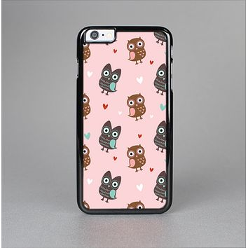 The Subtle Pink and Blue Vector Love Owls Skin-Sert for the Apple iPhone 6 Plus Skin-Sert Case