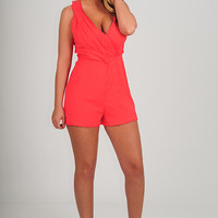 ARK & CO: Maybe Eventually Romper: Coral