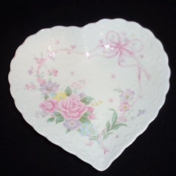 Mikasa Heart Shaped Trinket Dish