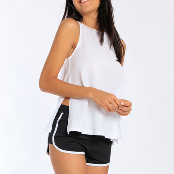 Miami Style® - Women's Side Slits High Neck Tank