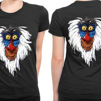 DCCKL83 The Lion King Rafiki 2 Sided Womens T Shirt