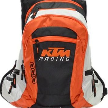 Free shipping for KTM Backpack Leisure travel bag Motorcycle racing backpack Multifunctional motocross backpack 2 Colors