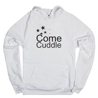 Come Cuddle-Unisex White Hoodie