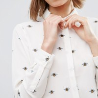 ASOS Soft Shirt in Bee Print
