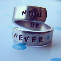 Now or never aluminum spiral  ring