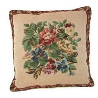 Tache 18 x18 Inch Festive Red Yuletide Blooms Cushion Covers ( TADB3098CC-B-4545 )