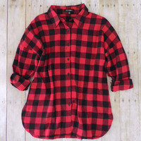 Northern Red & Black Plaid Flannel Shirt