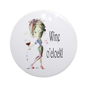 WINE OCLOCK! ORNAMENT (ROUND)