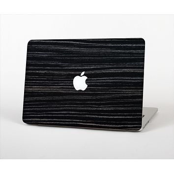 The Black Wood Texture Skin Set for the Apple MacBook Pro 13""