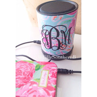 Lilly Pulitzer Inspired Monogram Speaker
