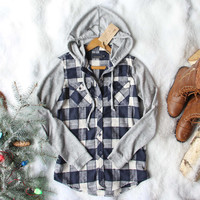Snowy Creek Plaid Shirt in Navy