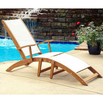 Home Styles Furniture 5660-83 Bali Hai Natural Teak Chaise Lounge Chair