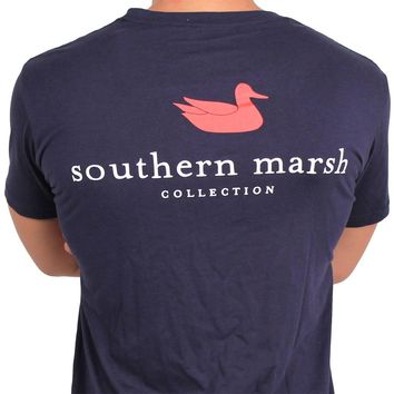 Authentic Tee in Navy by Southern Marsh