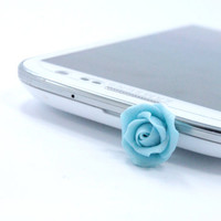 Phone Charm, Floral Earphone Plug, Dust Plug - iphone, Samsung Galaxy S3 S2  Accessories, Smart phone Accessories
