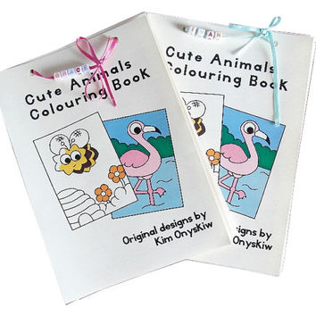 Personalised Cute Animals Colouring Book - 20 pages