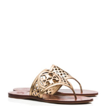 Tory Burch Thatched Perforated Thong Sandal