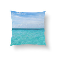 Cayman Island Waters - Throw Pillow Cover
