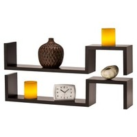 Threshold™ Set of 2 Fashion Shelves with 2 LED Candles