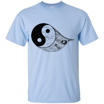 Gothic Yin-Yang, Sky, Mountains And Parchment Youth Ultra Cotton T-Shirt