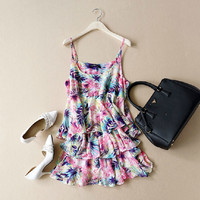 Summer fashion chiffon printing dress