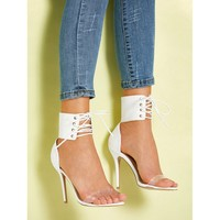 Lace Up Stiletto Heels