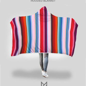 Mexican Sunset Hooded Blanket