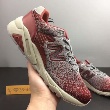 PEAPNV cxon new balance nb580 flyknit breathable grey red for women men running sport casual shoes sneakers
