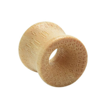 Smooth Bamboo Saddle Body Jewelry Ear Gauge Plugs   Flesh Tunnels Stretching Hollow Exp er 8-20MM SM6