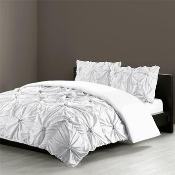 N Natori Jolee Queen Comforter Mini Set White FullQueen