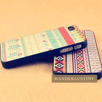 Aztec Tribal Pattern / Spring Garden iPhone 4/4s Case from WANDERLUSTINY