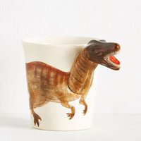 Making Prehistory Mug in Velociraptor | Mod Retro Vintage Kitchen | ModCloth.com