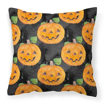 Watecolor Halloween Jack-O-Lantern Fabric Decorative Pillow BB7524PW1414