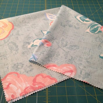 Fabric Panel, Home Decor Square, Sewing, Crafting, Decoration, Pillows, Chair Seat, Mixed Media Art, Pink Rose (S) ok