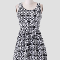 Love Triangle Printed Dress