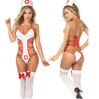 On Sale Hot Deal Sexy Cute Hollow Out Uniform Exotic Lingerie [11407013583]