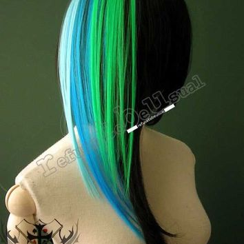 PUNK HAIR EXTENSION LAGOON REFLECTION TONE (3 CLIPS)