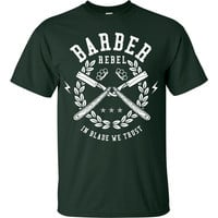 Barber Rebel - In Blade We Trust Funny Short Sleeve T-Shirt up to 5XL