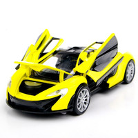 Collectible Car Models 1:32 Yellow McLaren P1 Alloy Diecast Car Model Toy Vehicles Electronic Car With Light&Sound Gift for Kids