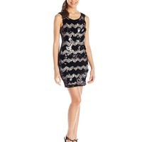 As U Wish Juniors' Sequin and Lace Shift Dress
