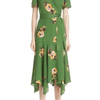A.L.C. Cora Floral Print Silk Wrap Dress | Nordstrom