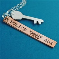 Doctor Who Tardis Key Necklace - Spiffing Jewelry