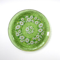Retro Glass Platter, Serving Tray