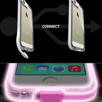 Light Up Case Cover for iPhone 5s 6 6s Plus with Data Line Gift 231