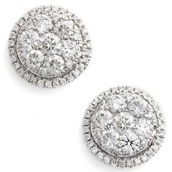 Bony Levy 'Mika' Round Halo Diamond Stud Earrings (Nordstrom Exclusive) | Nordstrom