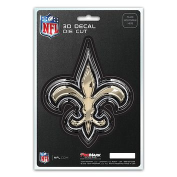 New Orleans Saints Decal 5x8 Die Cut 3D Logo Design