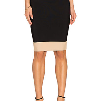 Scarlett Colorblock Skirt in Light Nude Combo